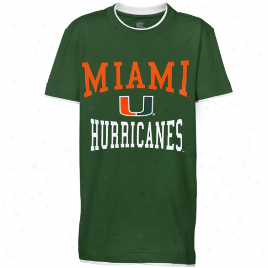 Miami Hurricanes Youth Verdant Double Layer T-shirt
