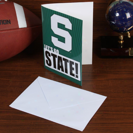 Michigan State Spartans 5'' X 7'' Musical Card