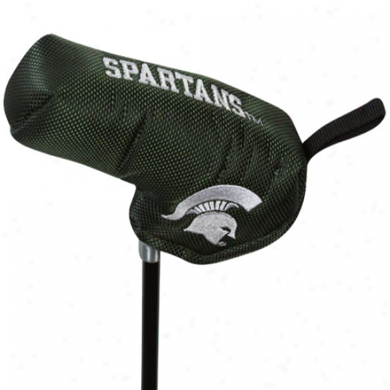 Michigan State Spartans Green Nylon Shaft Gripper Buck Putter Cover