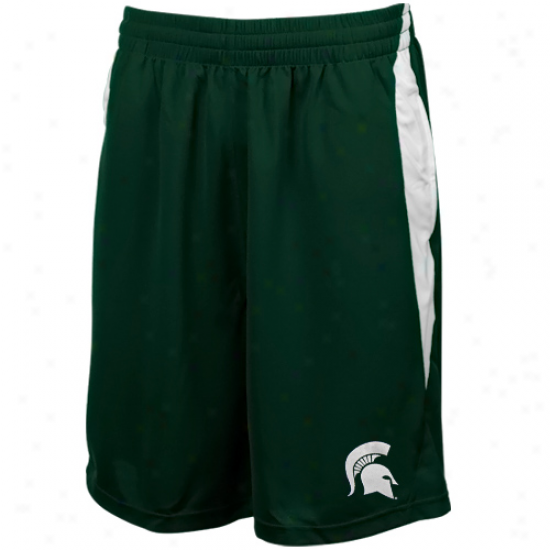 Michigan State Spartans Green Side Block Stunner Mesh Shorts