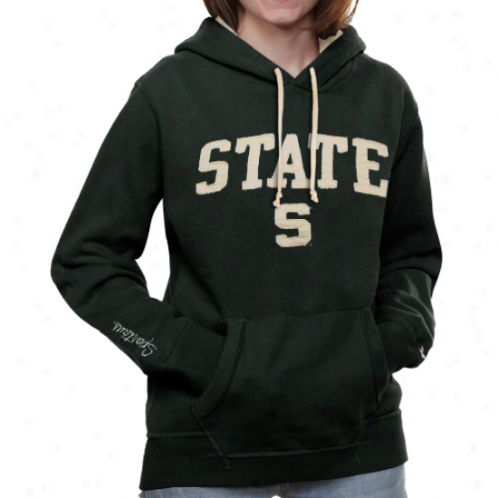 Michigan State Spartans Ladies Green Canyon Pullover Hoodie Sweatshirt