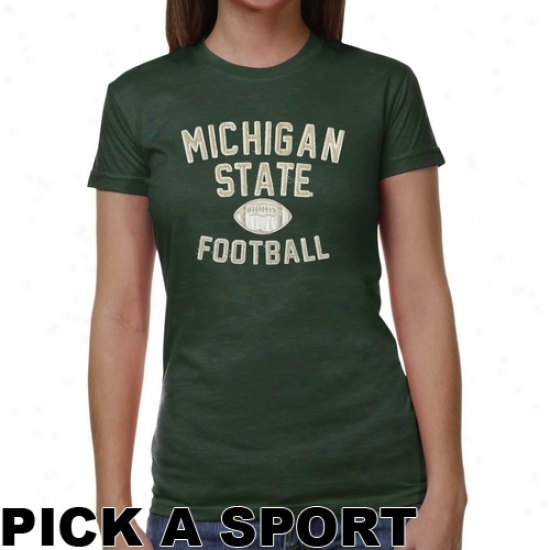 Michigan State Spartans Ladies Legacy Junior's Tri-blend T-shirt - Green