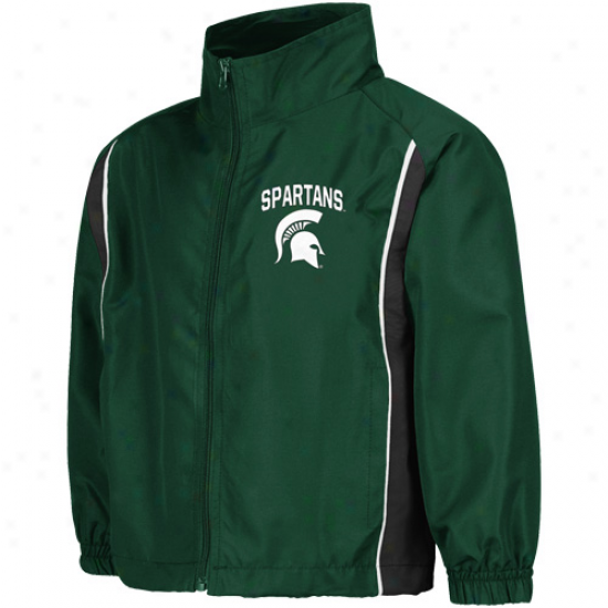 Michigan State Sppartans Preschool Green Drop Kick Full Zip Jacket