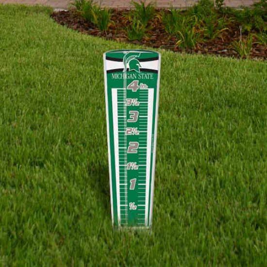 Michigan State Spartans Rain Gauge