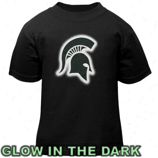 Michigan State Spartans Toddler Glowgo T-shirt - Black