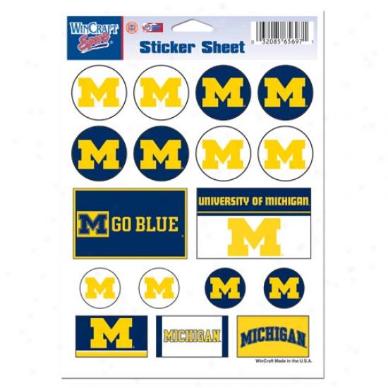 Michigan Wolverines 5'' X 7'' Sticker Sheet