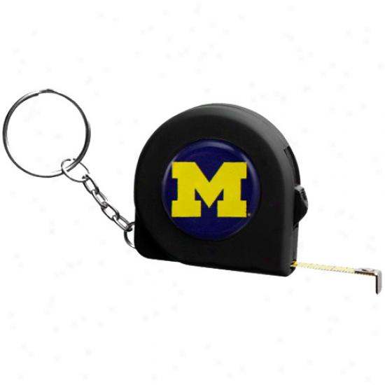 Michigan Wolverines 6' Mini Tape Measure Kdychain