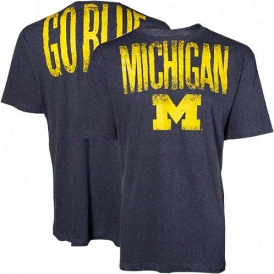 Micuigan Wolverines Navy Highway T-shirt