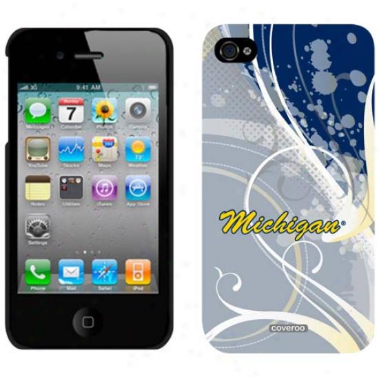 Michigan Wolverines Swirl Iphone 4 Case