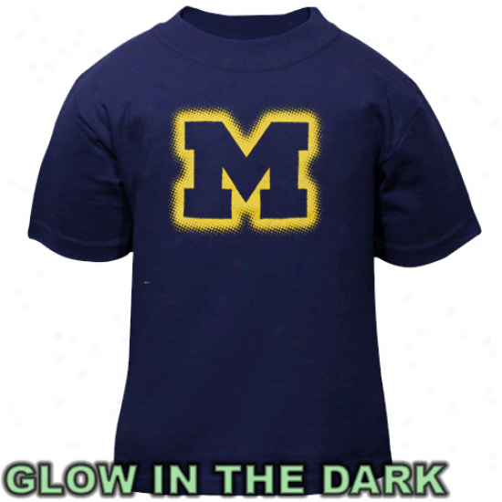 Michigan Wolverines Toddler Glowgo T-shirt - Navy Blue