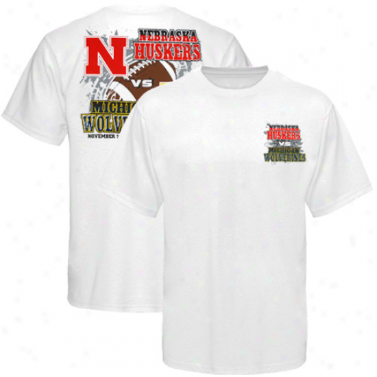Michigan Wolverines Vs. Nebraska Cornhuskers 2011 Gameday T-shirt - White