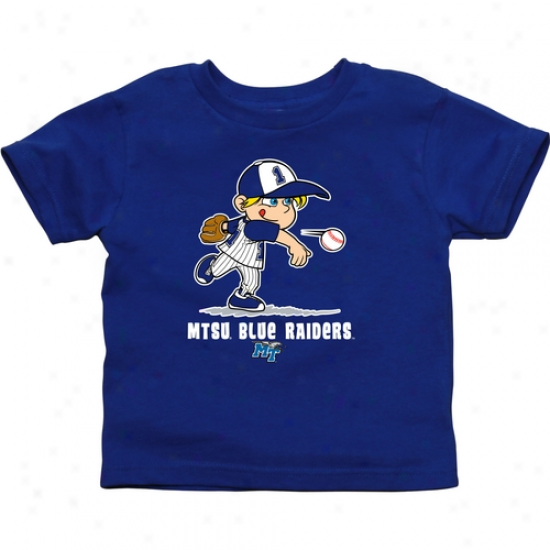 Middle Tennessee State Blue Raiders Infant Boys Baseball T-shirrt - Royal Blue