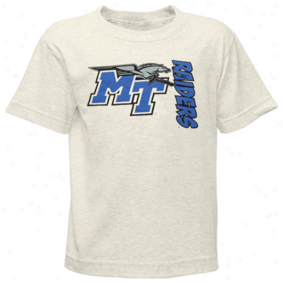 Middle Tennessee State Blue Raiders Preschool White Bronco Slub T-shirt