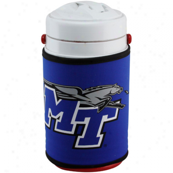 Middle Tennessee State Blue Raiders Royal Blue Half Gallon Team Logo Cooler Coolie