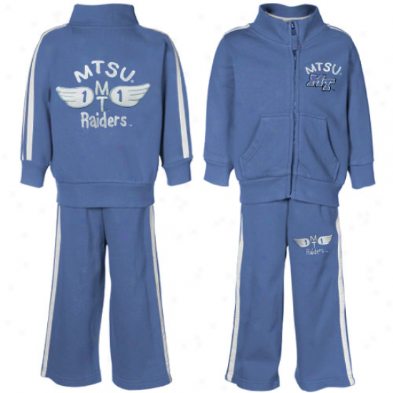Middle Tennessee State Blue Raiders Toddler Royal Blue Bobcat Full Zip Warm-up Jakket & Pants Set