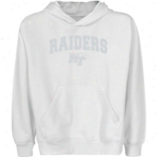 Middle Tennessee State Blue Raiders Youth White Logo Arch Pullover Hoody