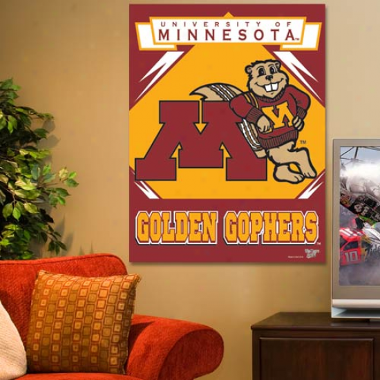 Minnesota Golden Gophers 27'' X 37'' Vertical Banner Flag