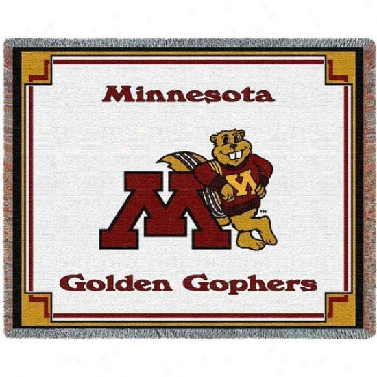 Minnesota Golden Gophers 7'' X 54'' Teeam Mascot Jacquard Woven Blanket Throw
