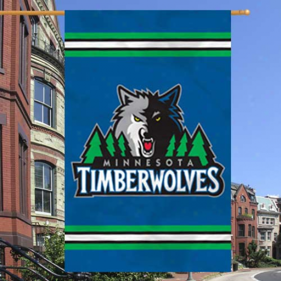 """minnesota Timberwolves 44"""" X 28"""" Navy Azure Team Logo Applique Banner"""