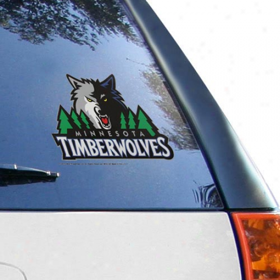 Minnesota Timberwolves 8'' X 8'' Team Logo Die-cut Decal