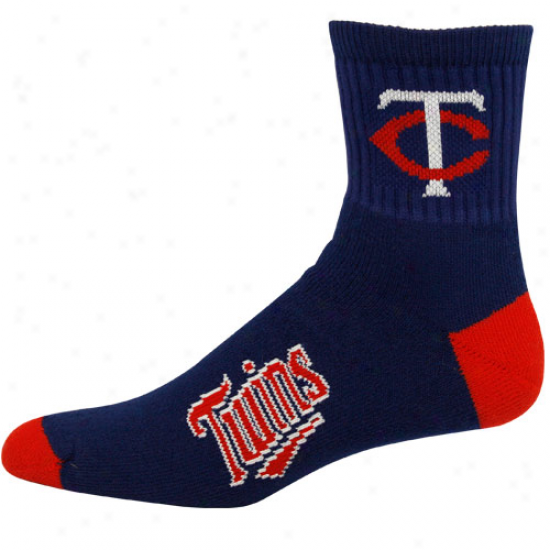 Minnesota Twins Navy Blue Team Color Block Socks