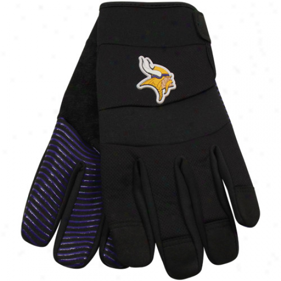 Minnesota Vikings Black Deluxe Utilify Work Gloves
