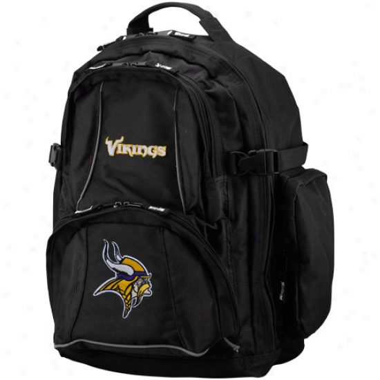 Minnesota Vikings Black Trooper Backpack