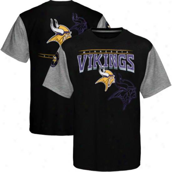 Minnesota Vikings Hardknock Premium T-shirt - Black-ash