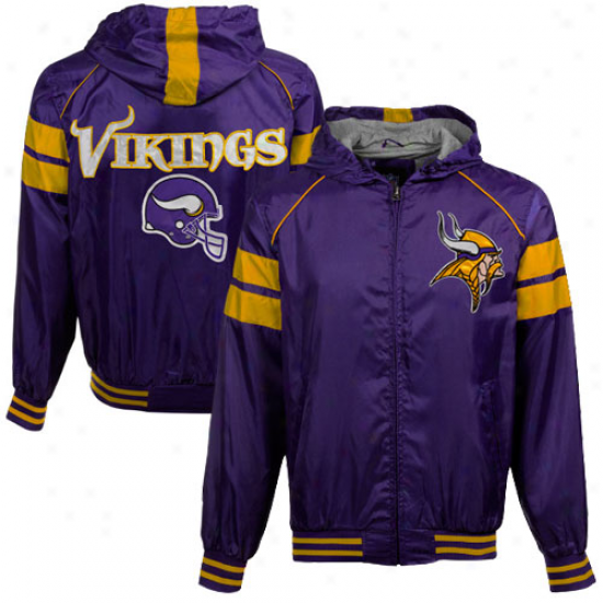Minnesota Vikings Purple Flea Flicker Full Zip Hooded Jacket