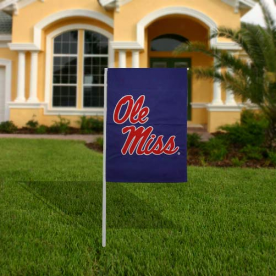 Mississippi Rebels 17.5'' X 1.5'' Navy Blue Garden Flag