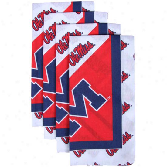 Mississippi Rebels 4-pack Spirited Cloth Napkins