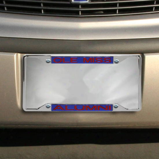 Mississippi Rebels Alumni Acryylic Insert Chrome License Plate Frame