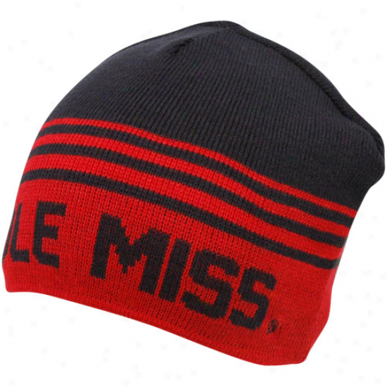 Mississippi Rebels Cardinal-navy Blue Rush Reversible Beanie