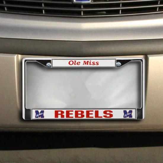 Mississippi Rebels Chrome License Plate Frame
