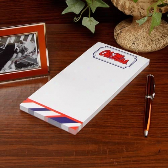 Mississsippi Rebels Striped Notepad
