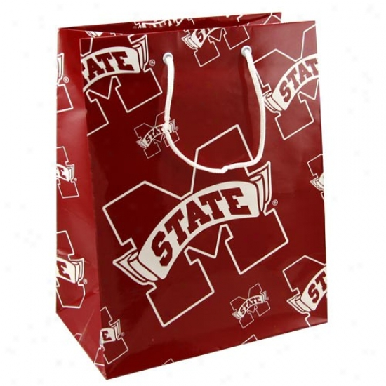 Mississippi State Bulldogs Team Logo Gift Bag