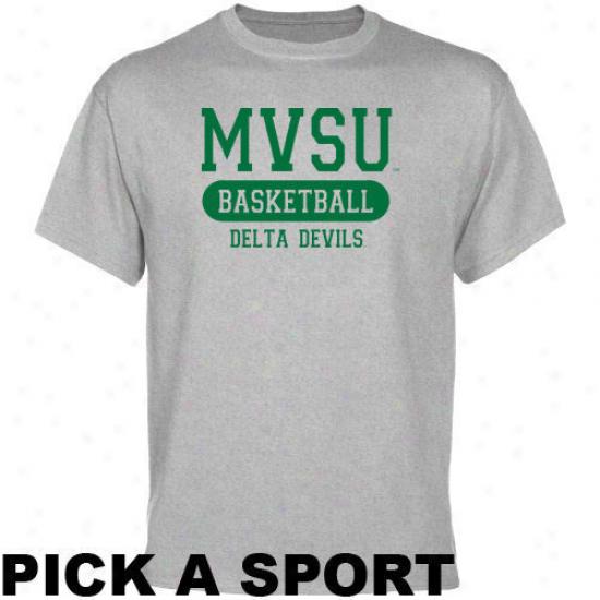 Mississippi Valley State Delta Devils Ash Custom Sport T-shirt