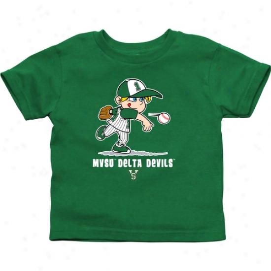 Mississippi Valley State Delta Devils Infant Boys Baseball T-shirt - Green