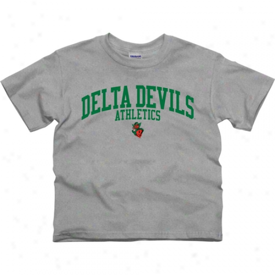 Mississippi Valley State Delta Devis Youth Athletics T-shirt - Ash