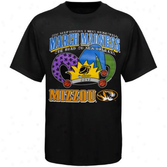 Missouri Tigers 2012 Road To March Madness T-shirt - Black