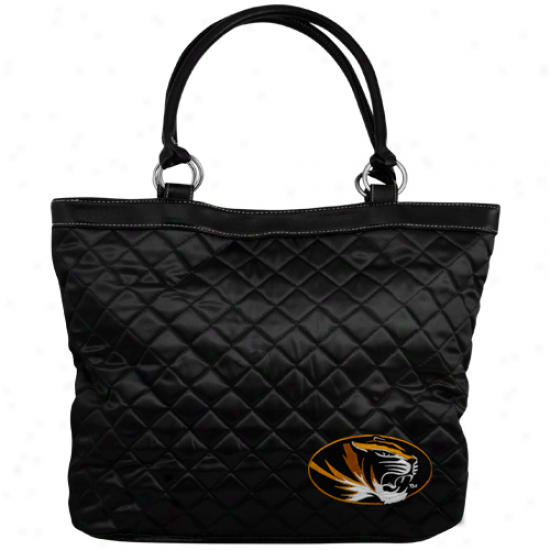 Missouri Tigers Blcak Quilted Tote Bag