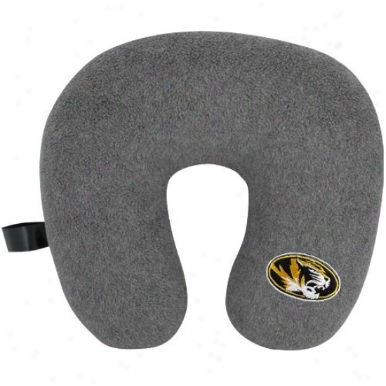 Missouri Tigers Gray Travel Pillow