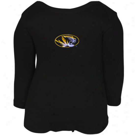 Missouri Tigers Infant Black Big Bambino Long Sleeve Creeper