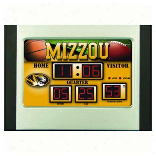 Missouri Tigers Led Scoreboard Alarm Clock