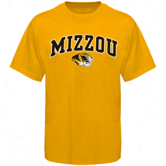 Missouri Tigers Youth Arched University T-shirt - Gold