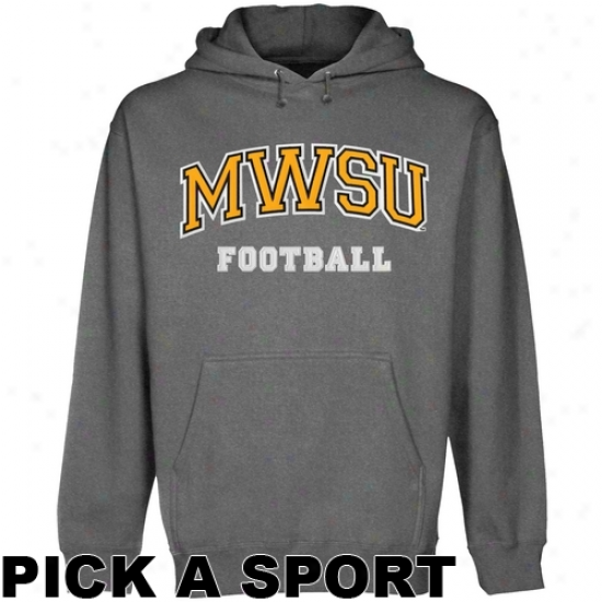 Missouri Western State Griffons Custom Sport Arch Applique Pullover Hoodie - Gunm3tal