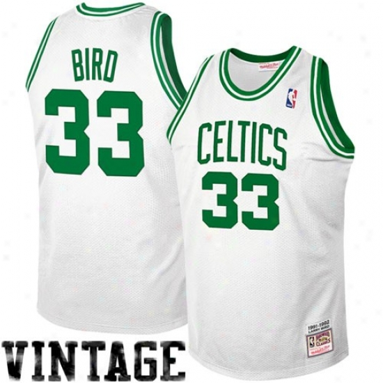 Mitchell & Ness Boton Celtics #33 Larry Bird 1992 Autentic Hardwood Classics Jersey - White
