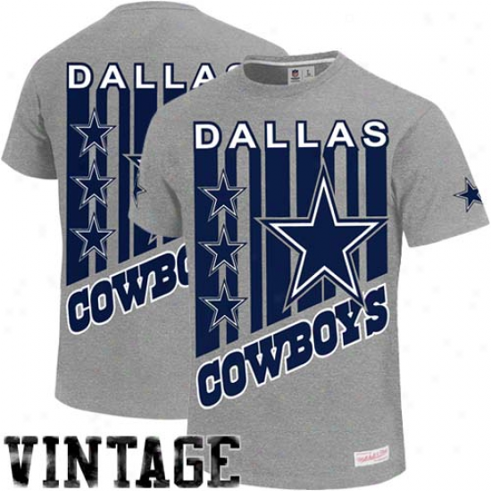 Mitchell & Ness Dallas Cowboys Vintage Touchback Premium T-shirt - Grayy