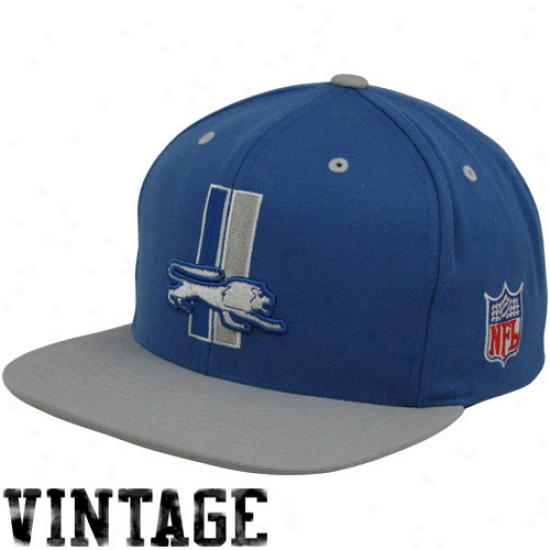 Mitchell & Nes sDetroit Lions Light Blue-silver Two-tone Vintage Snapback Adjustable Hat