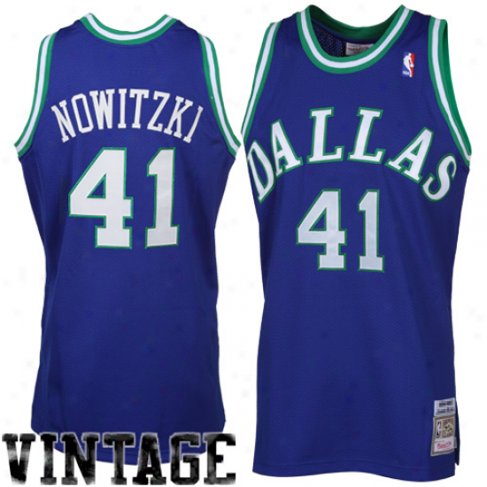 Mitchell & Ness Dirk Nowitzki Dallas Mavericks Authentic Throwback Jersey - Royal Blue